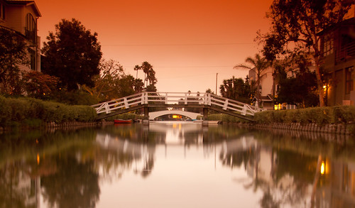 venice sunset orange water la pier losangeles ponte reflect venicebeach acqua riflessi arancione filtered filtro cokin p124