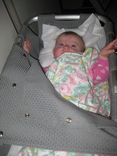 Air New Zealand Bassinet on the plane