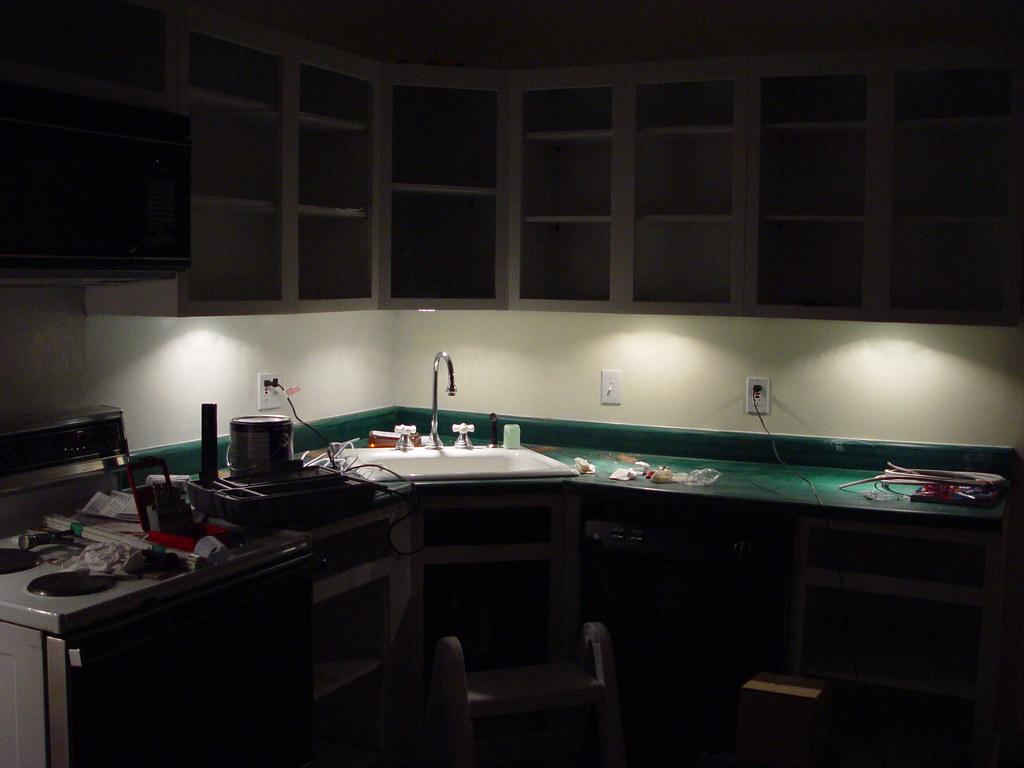 Inexpensive Kitchen Makeover 30 Under Cabinet Lighting Old