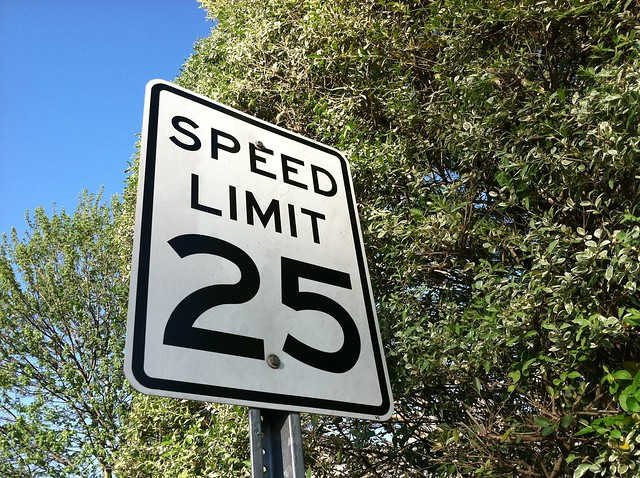 Speed Limit Sign from Flickr via Wylio