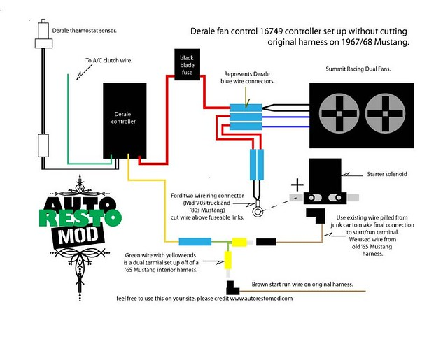 Derale Relay Wiring Diagram : Derale fan wiring diagram get free image about