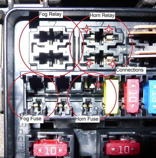 Fog Lights W   Oem Switch  Connecting The Relay And Fuse
