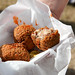 Boudin Balls. Liver-y boudins, deep fried, dipped in creole mustard and Crystal hot sauce. What's not to love? (Food 1)