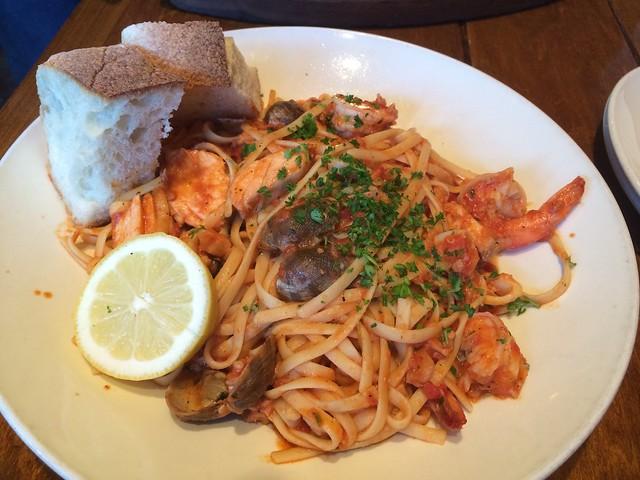 Seafood linguine - Firewood Cafe