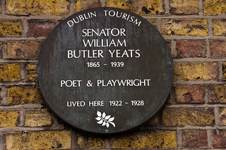 William Butler Yeats Lived Here - Merrion Square