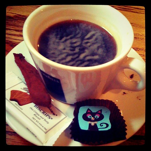 食後のコーヒー、おまけ3種盛り! @ Café Dubois