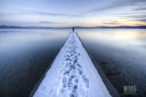 Lake Tahoe Snowy Dock