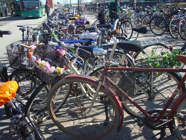 Cyklar vid Malmö central