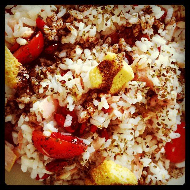 Ensalada de arroz atun y gojis flickr photo sharing - Ensalada de arroz con atun ...