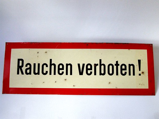 vintage german no smoking sign rauchen verboten flickr photo sharing. Black Bedroom Furniture Sets. Home Design Ideas