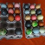 Química, huevos, colorantes, Pascua