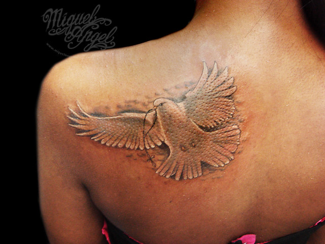 Religius dove and rosary beads custom tattoo | Flickr - Photo Sharing!