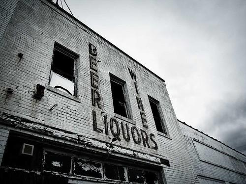 Abandoned liquor store