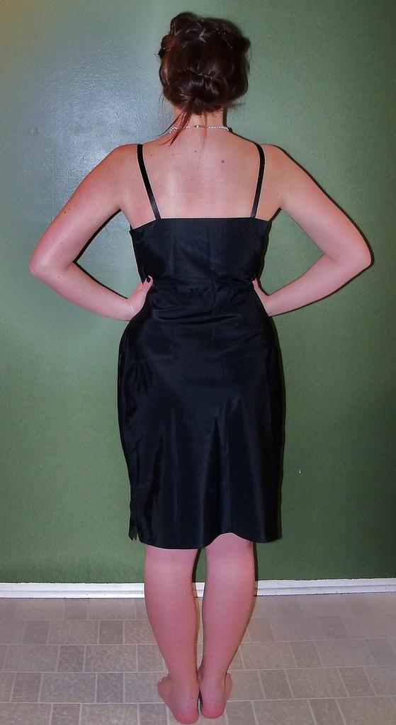 vintage black slip dress 34