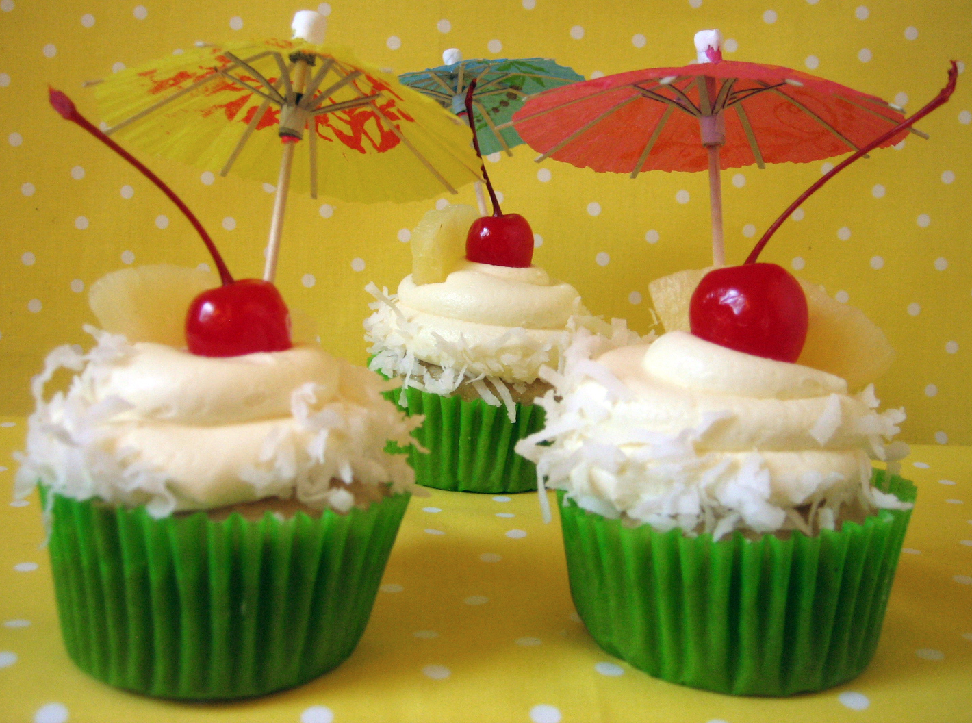 Pina Colada Cupcakes Recipes — Dishmaps
