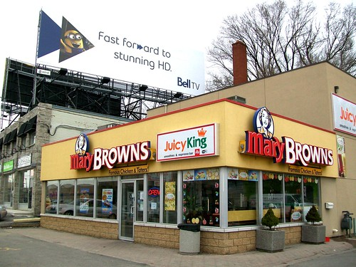 Mary Browns Restaurant / Fried Chicken Fast Food Chain .... Toronto, Ontario