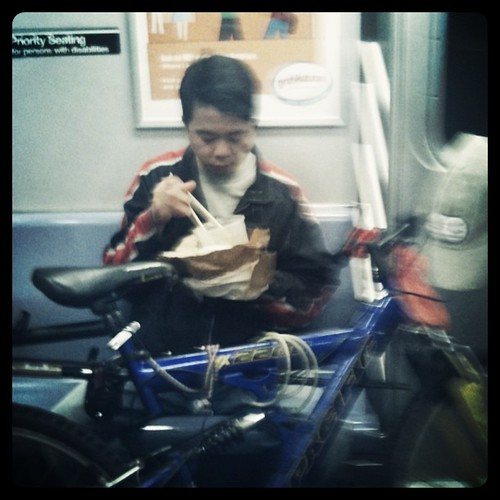 eating on the subway (the subway as your living room) part seventeen
