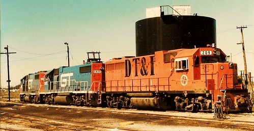 The Grand Trunk Western Railroad Elsdon Yard locomotive terminal. (Gone.) Chicago Illinois USA. October 1983. by Eddie from Chicago