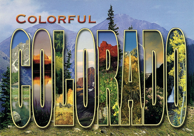 colorful colorado large letter postcard flickr photo