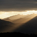 Backlight Mountain Sunrise, from Calvi, Corsica, France by Xindaan