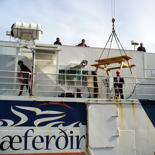 ferry table geotagged boat iceland picnic ship crane ísland flatey baldur geo:lat=6537119009908221 geo:lon=2292925715777585