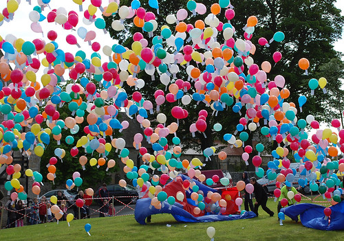A balloon release.