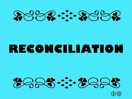 Buzzword Bingo: Reconciliation = Literally 'to meet again' a means of re-establishing normal relations