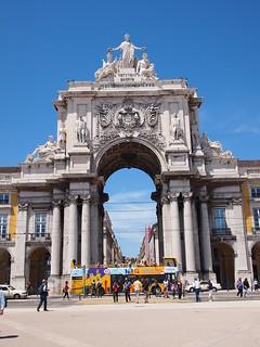 Image of Arco da Rua Augusta near Lisbon. travel art portugal public architecture lisboa lisbon places epl1