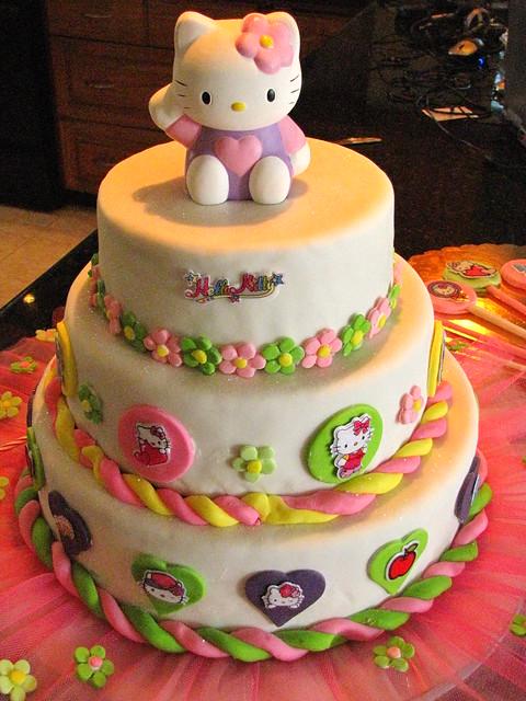 Decoracion Hello Kitty Para Cumplea?os ~ Torta Hello Kitty Cumplea?os Daniela  Flickr  Photo Sharing!