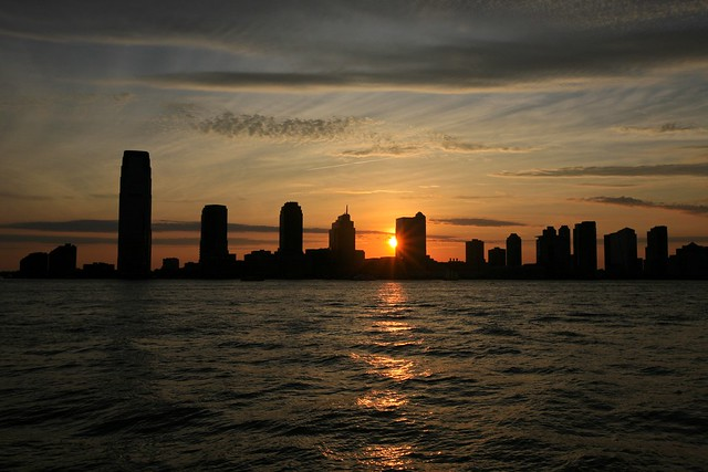 Sunset from Battery Park, New York City