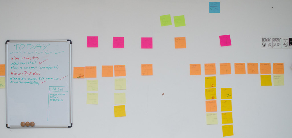 photo of fewer post-it notes with to do tasks on them.