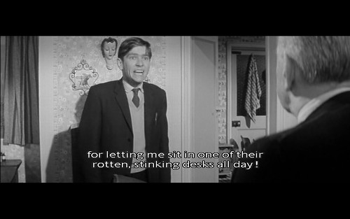 Letting me work (Billy Liar)