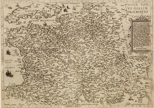 carte ancienne du royaume de France - XVIe Siècle
