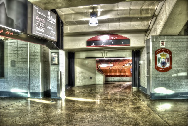 Entrance to section C3 at Mellon Arena HDR
