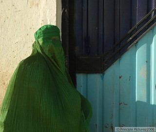 The Gates of Kabul, Green Burqa