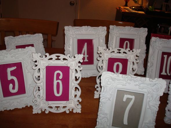 Vintage Frames Wedding Decor Seating Chart Table Number Escort Cards Family Photos 12