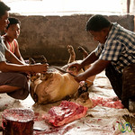 Carving up the Pig - Bandarban Indigenous Market, Bangladesh