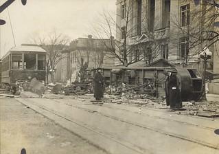 Railway Traction Car, Dayton, OH - 1913 Flood