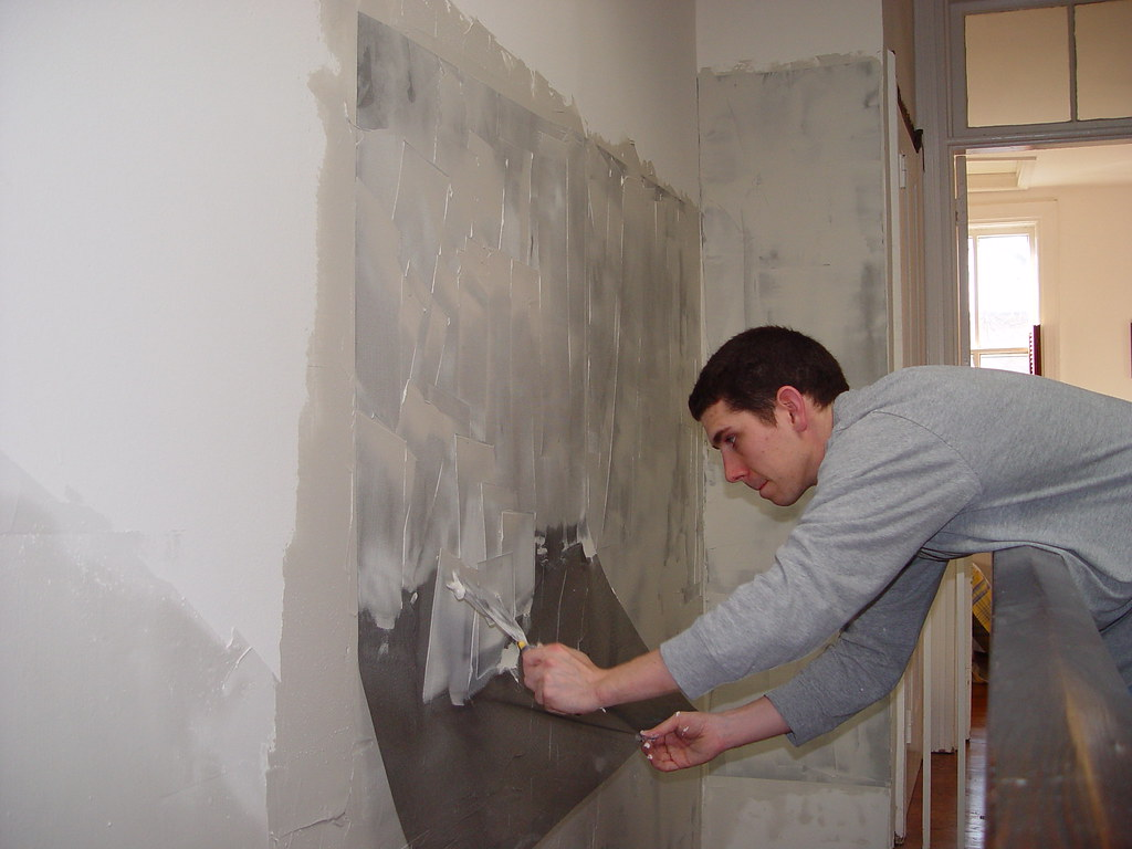 Bathroom Joint Compound plaster repair for diyers - no need to rip it out - old town home