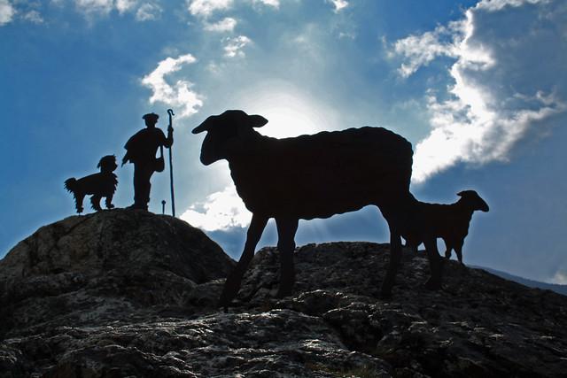 Monumento al pastor en Boí, LLeida