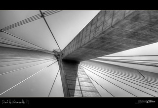Pont de Normandie II ⌠HDR⌡- Normandy Bridge Black and White