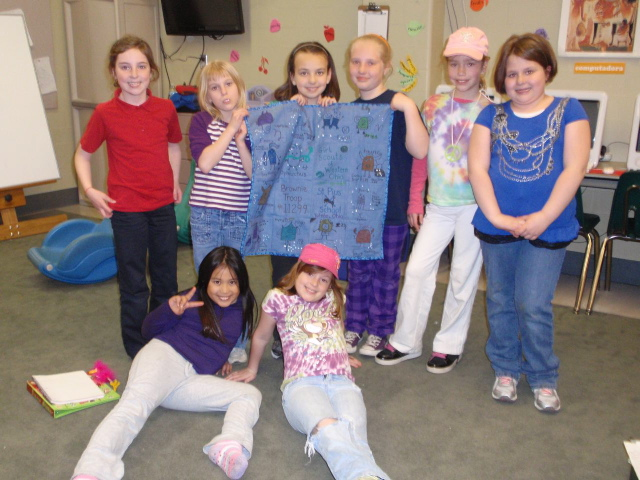created by the 3rd grade brownie girl scout troop 11299