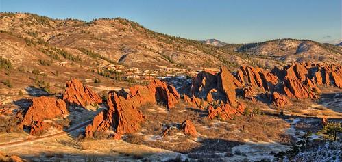 park mountain snow sunrise landscape sandstone colorado meetup denver redrocks facebook littleton 201104 roxborough southwestdenverphototeam