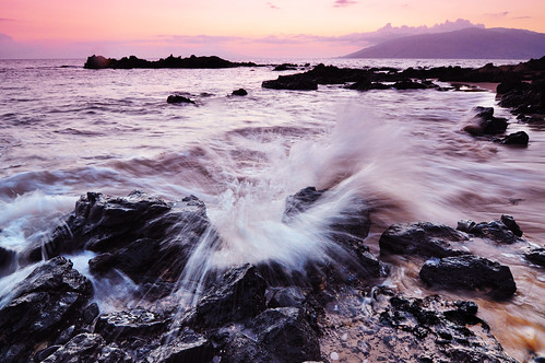 Kama'ole Beach Three, Evening Splash, Kihei, Maui, Hawaii