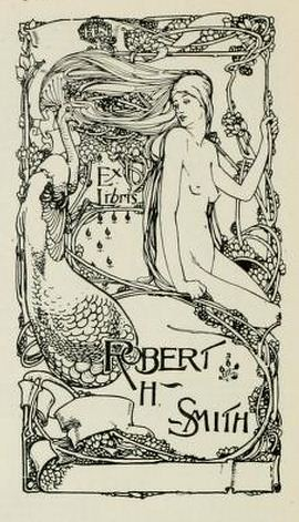 Bookplate of Robert H Smith by H Nelson