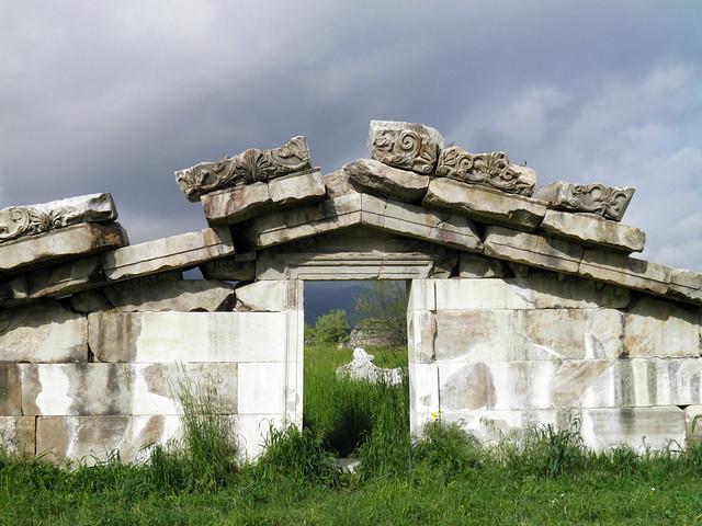 The Pediment of the Temple of Artemis Leukophryene, Magnesia ad Maeandrum, Turkey