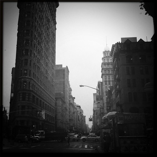 A Scene from Lower Fifth Avenue