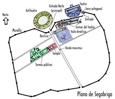 Plan of the Roman Town of Segobriga, Parque Arqueológico de Segóbriga
