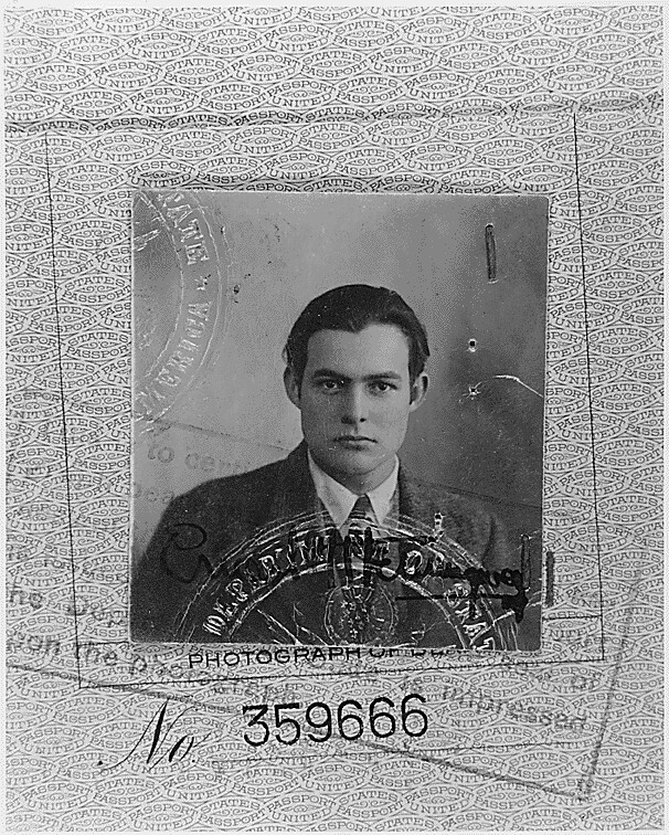 Ernest Hemingway 1923 Passport Photograph, 1923