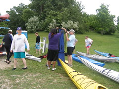 Packing up the kayaks